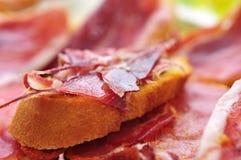 Tapas de jambon de Serrano Image libre de droits