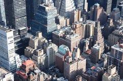 Tapas de la azotea de Manhattan fotografía de archivo