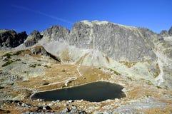 Tapas de las altas montañas de Tatras en Eslovaquia. Fotografía de archivo libre de regalías
