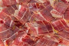 Tapas de plat de jambon de Jabugo Image stock