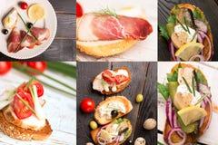 Tapas and delicious jamon Stock Image