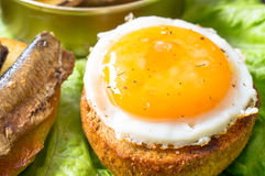 Tapas with egg Royalty Free Stock Photography