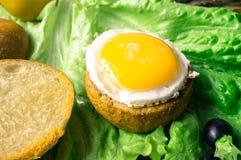Tapas with egg Royalty Free Stock Photo