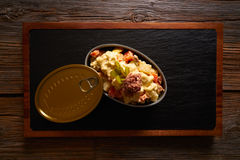 Tapas ensaladilla rusa is a potato salad. With tuna mayonaise pickles Stock Photography
