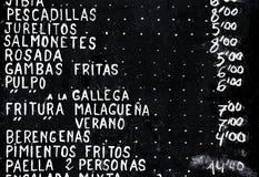 Tapas españoles Fotos de archivo