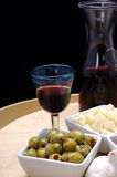 Tapas et vin rouge Image stock