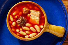 Tapas Fabada Asturiana beans and sausage Spain Stock Photos