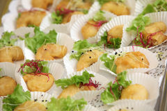 Tapas and finger food - close up Stock Image
