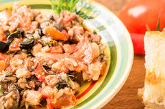 Tapas of fish and vegetables Stock Image