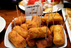 Tapas in form of croquettes Stock Images