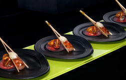 Tapas gastronomici 1 Fotografie Stock Libere da Diritti