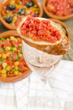 Tapas on Glass Royalty Free Stock Photo