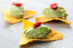 Tapas and guacamole Royalty Free Stock Images