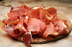 Tapas ham iberico called in spain Royalty Free Stock Images