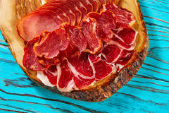 Tapas Iberico ham and lomo sausage from Spain Royalty Free Stock Photography