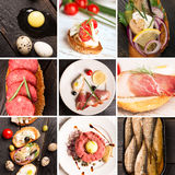 Tapas and jamon Royalty Free Stock Photo