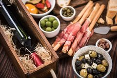 Tapas made for sharing at party or in bar.  Stock Images
