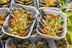 Tapas med musslor Royaltyfri Fotografi