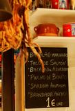 Tapas Menu Stock Images