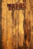 Tapas menu Fotografia Royalty Free