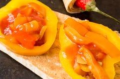 Tapas with paprika pepper Stock Photos