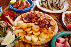 Tapas pulpo afeira from spain Stock Photo