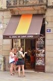 Tapas restaurant in Barcelona Stock Images