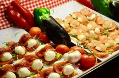 Tapas sabrosos, plato español Foto de archivo