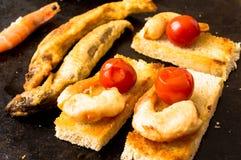Tapas shrimp tempura fries Stock Photography