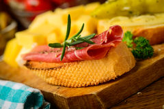 Tapas snack closeup Stock Photography