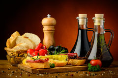 Tapas snacks Stock Images