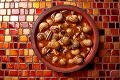 Tapas snail recipe from Spain Stock Image