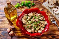 Tapas from Spain champinones garlic mushrooms Royalty Free Stock Photos