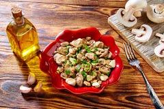 Tapas from Spain champinones garlic mushrooms Stock Photos