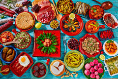 Tapas from spain mix of most popular recipes Stock Image