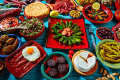Tapas from spain mix of most popular recipes Stock Photo