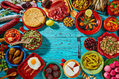 Tapas from spain mix of most popular recipes Stock Images