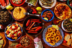 Tapas from spain mix of most popular Stock Photography
