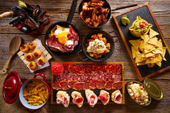 Tapas from Spain varied mix Royalty Free Stock Images