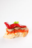 Tapas spanish food cousine culture isolated. Delicious tapas spanish food cousine culture isolated Royalty Free Stock Image