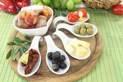 Tapas stuffed with fruits Royalty Free Stock Photos
