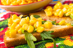 Tapas with sweet corn Royalty Free Stock Photo