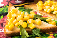 Tapas with sweet corn Royalty Free Stock Photography