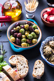 Tapas variety on table Stock Images
