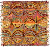 Tapeçaria com grunge colorido abstrato listrada, teste padrão ondulado ilustração do vetor