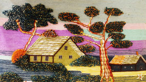 Tapeçaria decorativa do tapete Imagens de Stock