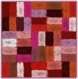 Tapeçaria heterogêneo com elementos coloridos retangulares tecidos grunge e franja ondulada ilustração royalty free