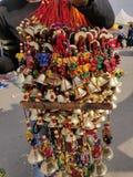 Tapeçarias bonitas no mercado fotos de stock