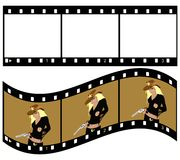 Tape. Vector work tape transparent windows one of the sample with cowboy Stock Images