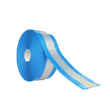 Tape. Blue scotch tape isolated on white background Royalty Free Stock Images